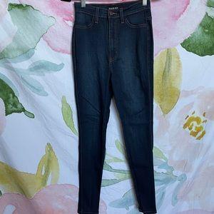 Fashion Nova High Waisted Dark Blue Jeans